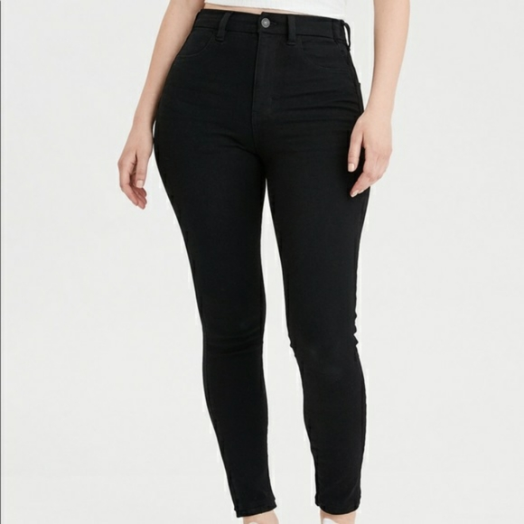 American Eagle Highest Rise Black Jeans High Waist